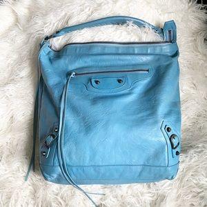 Balenciaga authentic blue leather Day Bag